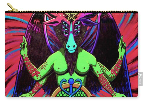 Psychtanic Baphodelic Super Goat On Dmt Carry-all Pouch