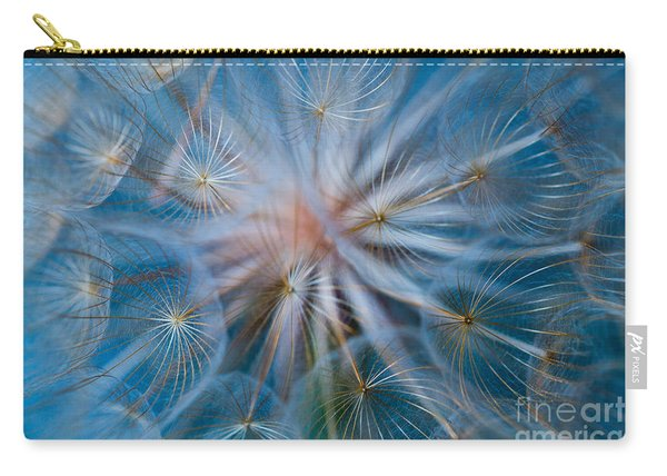 Carry-all Pouch featuring the photograph Puff-ball In Blue by Jaroslaw Blaminsky