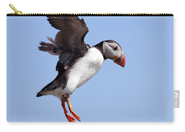 Puffin In Flight Carry-all Pouch