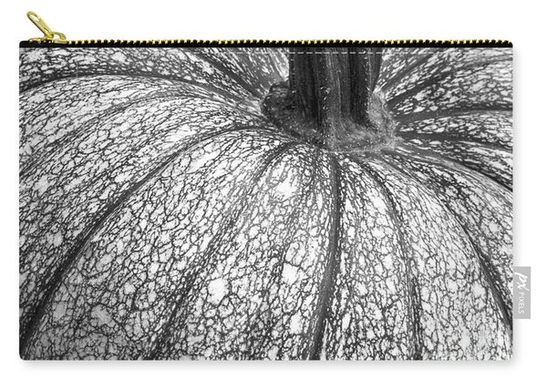 Pumpkin Pumpkin Black And White Carry-all Pouch