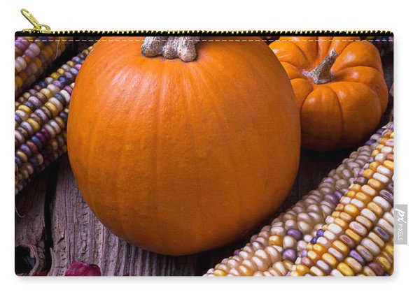 Pumpkins And Corn Carry-all Pouch