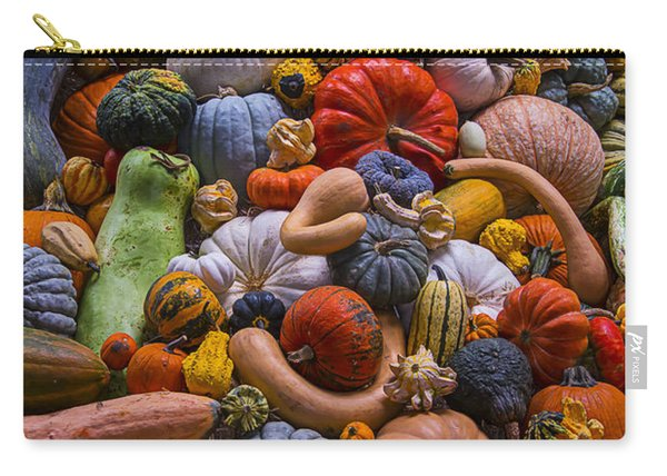 Pumpkins And Gourds Pile Carry-all Pouch