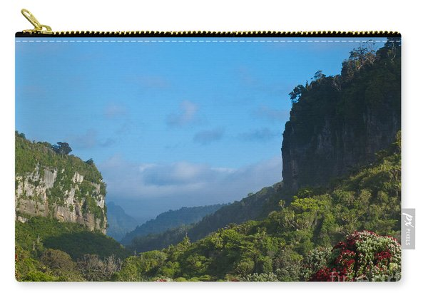 Punakaiki River Valley In Paparoa Np In New Zealand Carry-all Pouch