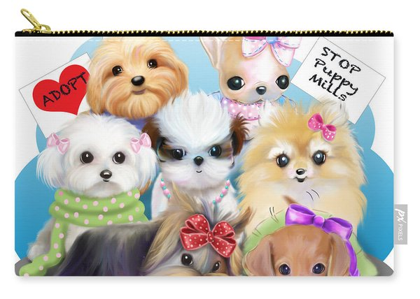 Puppies Manifesto Carry-all Pouch