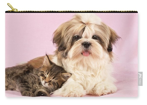 Puppy And Kitten Carry-all Pouch
