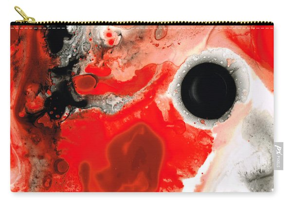 Pure Passion - Red And Black Art Painting Carry-all Pouch
