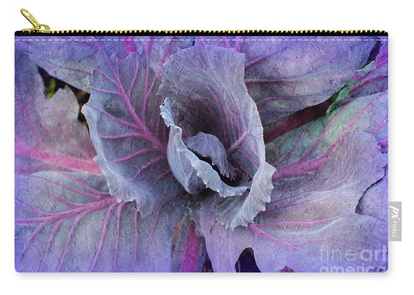 Purple Cabbage - Vegetable - Garden Carry-all Pouch