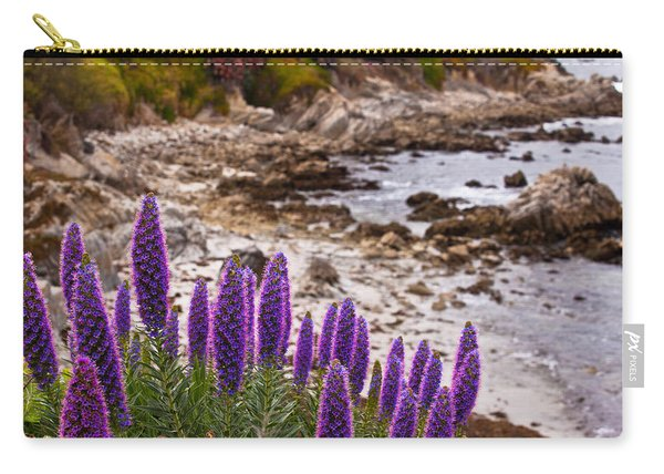 Purple California Coastline Carry-all Pouch