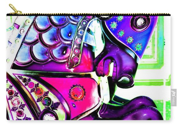 Purple Carousel Horse Carry-all Pouch