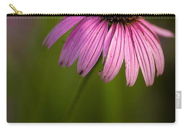 Purple Cone Flower Portrait Carry-all Pouch