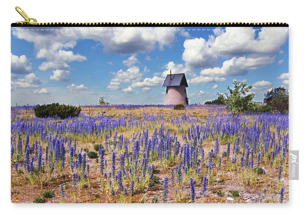 Purple Flower Countryside Carry-all Pouch