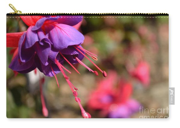 Carry-all Pouch featuring the photograph Purple Fuchsia by Scott Lyons