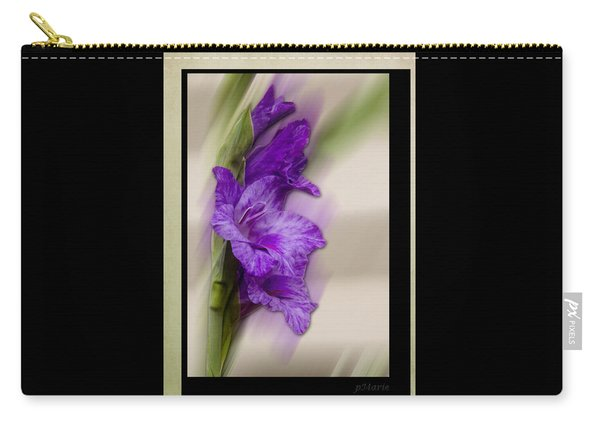 Purple Gladiolus Bloom Carry-all Pouch