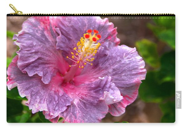 Purple Hibiscus Carry-all Pouch