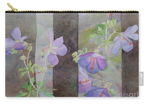 Purple Ivy Geranium Carry-all Pouch