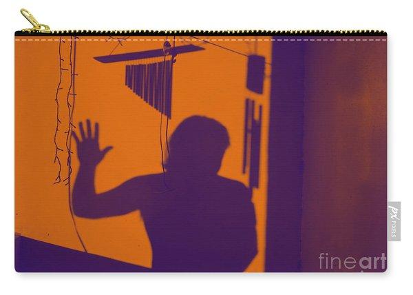 Purple Orange Figure Shadow Carry-all Pouch