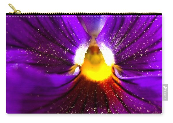 Purple Pansy Detail Carry-all Pouch
