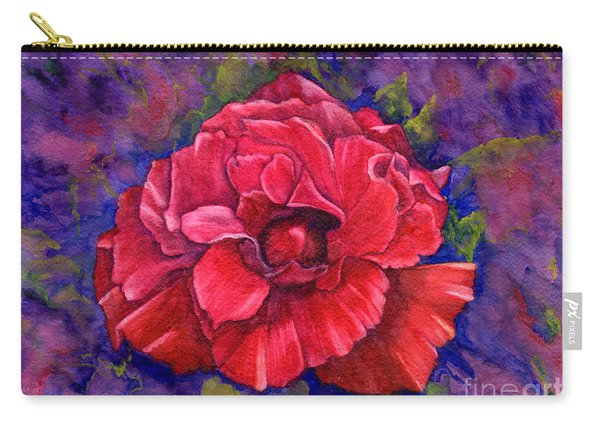 Carry-all Pouch featuring the painting Purple Passion by Nancy Cupp