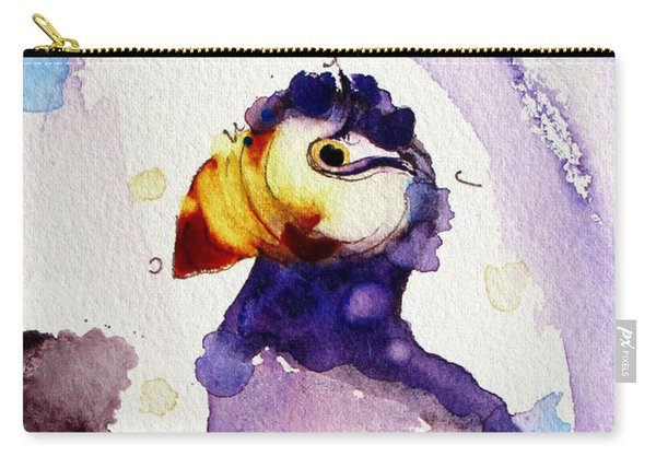 Purple Puffin Carry-all Pouch