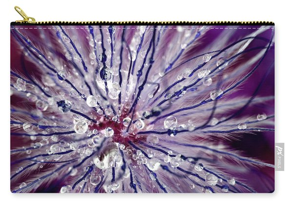 Purple Tentacles In Abstract Flower Shot Carry-all Pouch