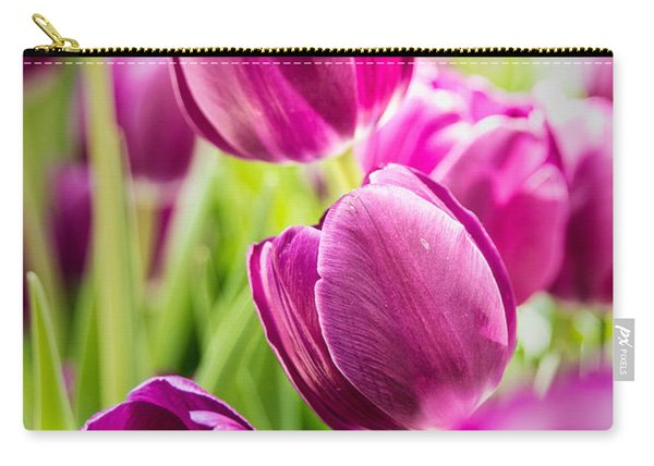 Purple Tulip Garden Carry-all Pouch