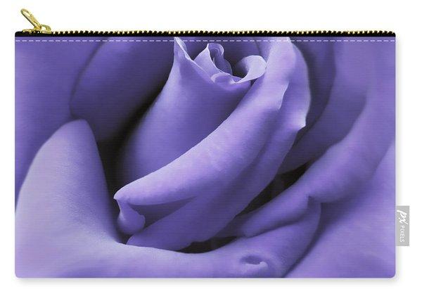 Purple Velvet Rose Flower Carry-all Pouch