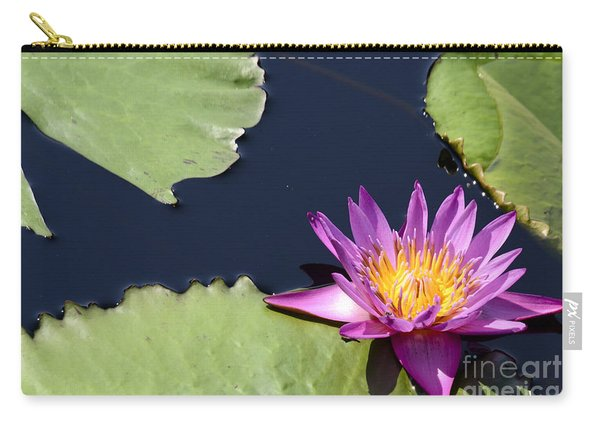 Purple Waterlilly Carry-all Pouch
