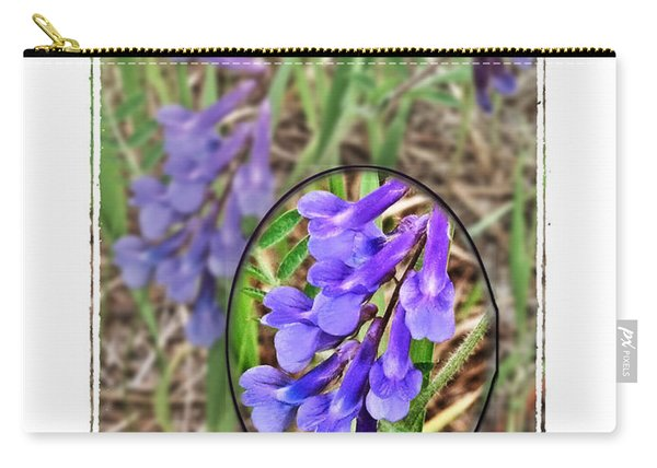 Purple Wildflowers Carry-all Pouch