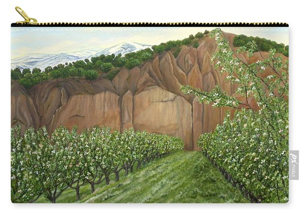 Carry-all Pouch featuring the painting Quince Trees by Angeles M Pomata