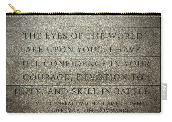 Quote Of Eisenhower In Normandy American Cemetery And Memorial Carry-all Pouch