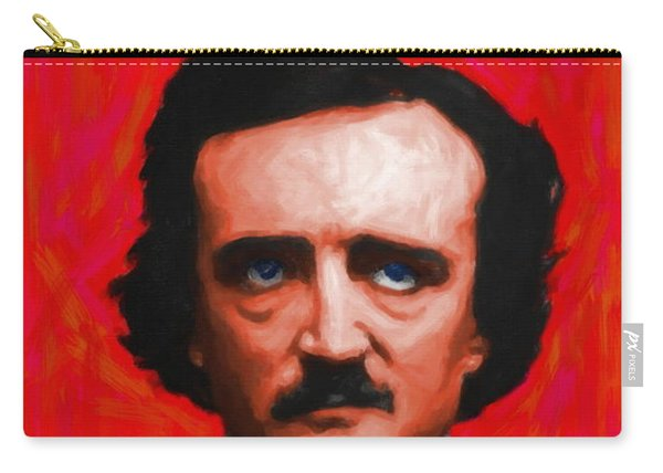 Quoth The Raven Nevermore - Edgar Allan Poe - Painterly - Red - Standard Size Carry-all Pouch
