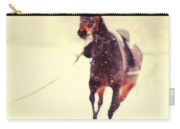 Race In The Snow Carry-all Pouch