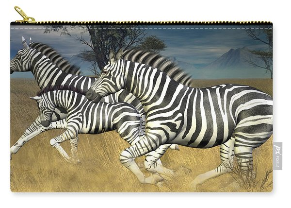 Racing Stripes Carry-all Pouch