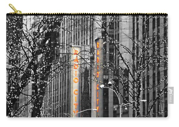 Radio City At Christmas - Black And White Carry-all Pouch