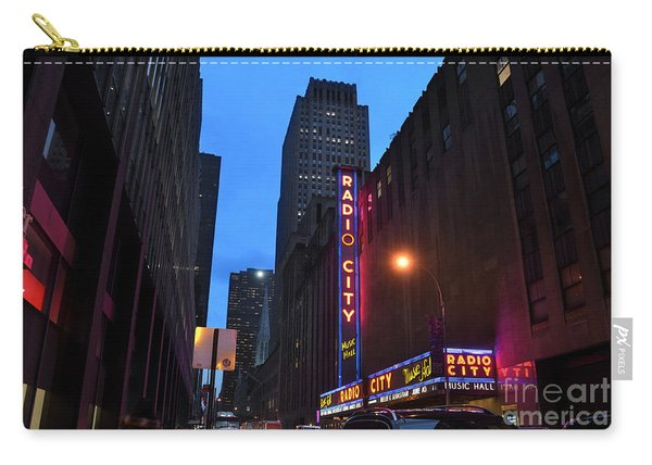 Radio City Music Hall And St Patricks Cathedral Carry-all Pouch