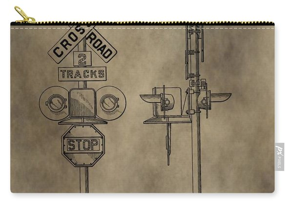 Railroad Crossing Patent Carry-all Pouch