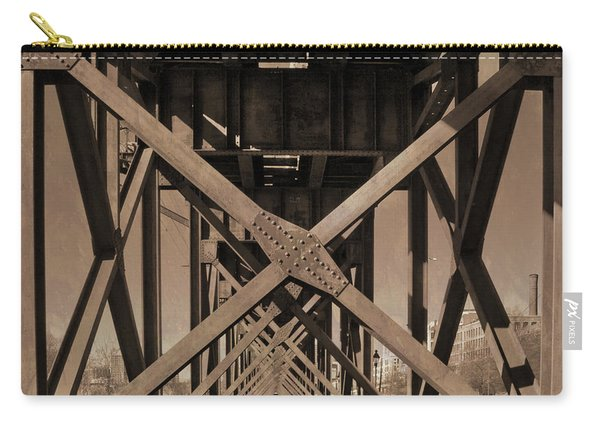 Railroad Trestle Sepia Carry-all Pouch