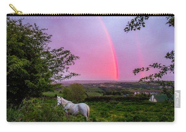 Rainbow At Sunset In County Clare Carry-all Pouch
