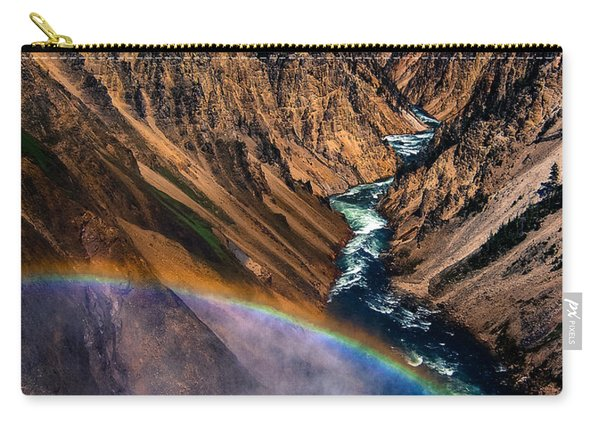 Rainbow At The Grand Canyon Yellowstone National Park Carry-all Pouch