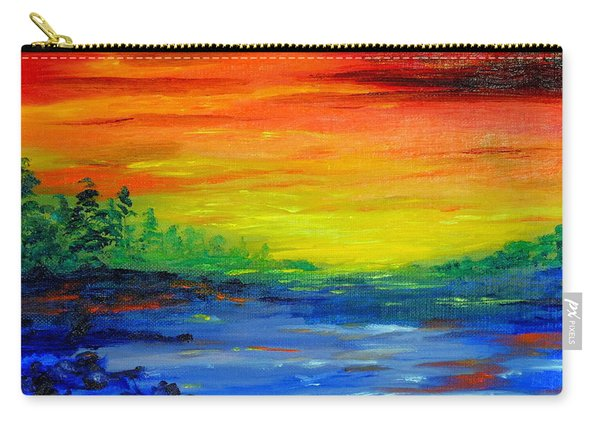 Rainbow Back Waters Carry-all Pouch