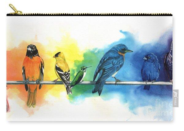 Rainbow Birds Carry-all Pouch