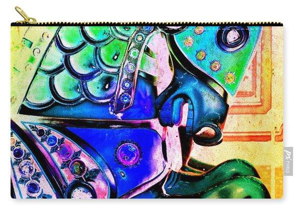 Rainbow Carousel Horse Carry-all Pouch