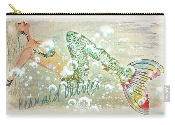 Rainbow Mermaid Bubbles Carry-all Pouch