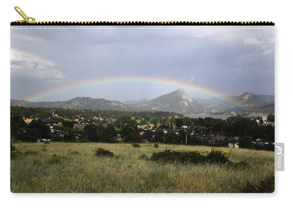 Rainbow Over Lake Estes Carry-all Pouch