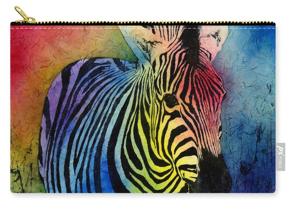 Rainbow Zebra Carry-all Pouch