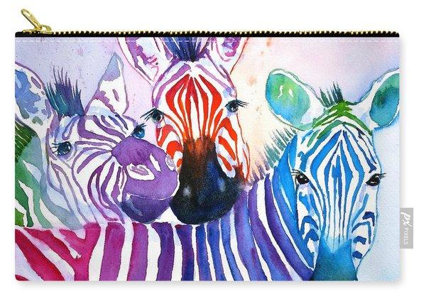Rainbow Zebra's Carry-all Pouch