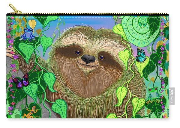 Rain Forest Sloth Carry-all Pouch