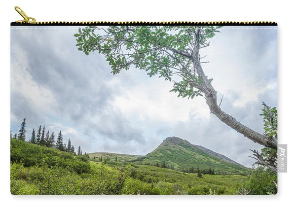 Carry-all Pouch featuring the photograph Rainy Evening On A Mountain Stream by Tim Newton