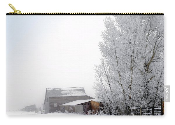 Ranch In Frozen Fog Carry-all Pouch