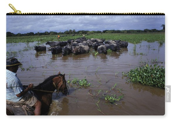 Rancher Rounding Up Cattle Carry-all Pouch